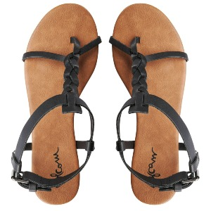 HOT SUMMER DAY SANDAL - BLK