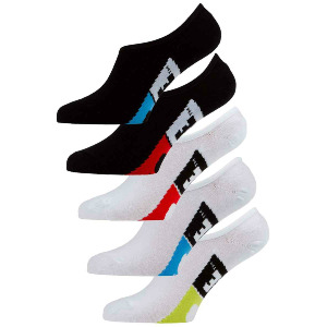 Stamped Invisible Sock 5 Pack - Assorted