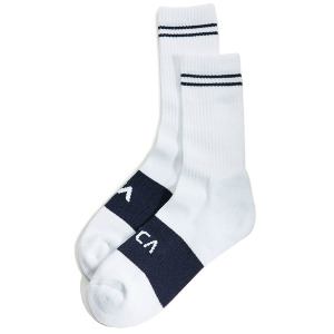 BASIC BLOCK SOCK - WHITE/NAVY