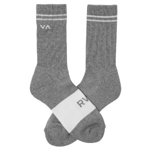 BASIC BLOCK SOCK - HEATHER GREY