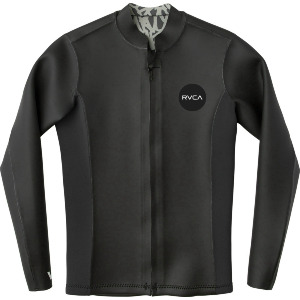 FRONT ZIP SMOOTHIE WETSUIT JACKET - BLACK