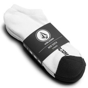 STONE ANKLE SOCK 3PK - WHITE