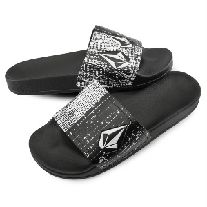 DONT TRIP MENS SLIDE - BLACK WHITE