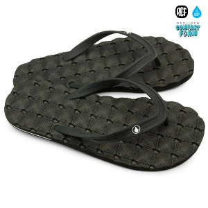 RECLINER RUBBER 2 SANDAL - BLACK