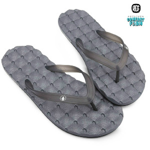 RECLINER RUBBER 2 SANDAL - BLACK GREY