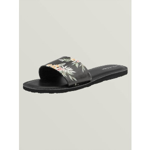 SIMPLE SLIDE SANDALS - BLACK COMBO