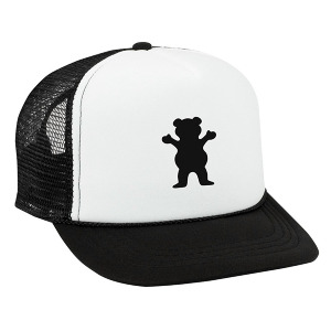OG Bear Youth Trucker - BLACK AND WHITE