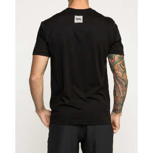 VA SPORT CORNERS PERFORMANCE T-SHIRT - BLACK