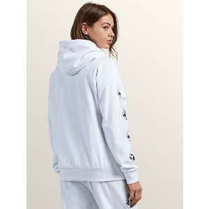 GMJ HOODED FLEECE - WHITE