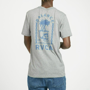 BAD PALMS SS T-SHIRT - HEATHER GREY