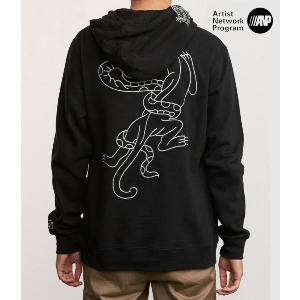 PICK YOUR BATTLES HOODIE - RVCA BLACK