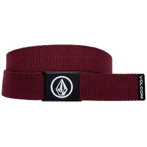 CIRCLE WEB BELT - CABERNET