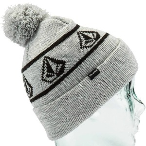 POWDER BEANIE - HEATHER BLACK