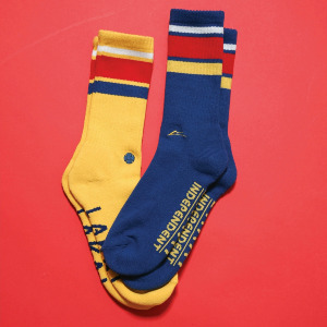 LAKAI X INDY CREW SOCK - GOLD