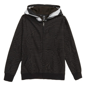 COOL STONE FULL ZIP HOODIE kid's - BLACK
