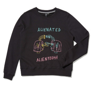 OZZY ALIEN FLEECE SWEATER - BLACK