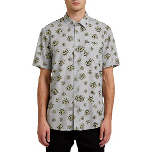 BURCH BLOOM S/S SHIRT - TOWER GREY