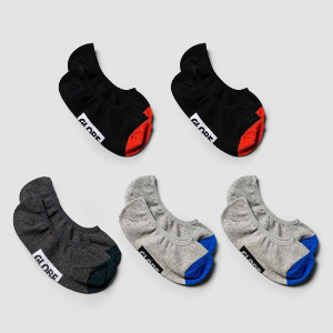 Ellis Invisible Sock 5 Pack - Assorted