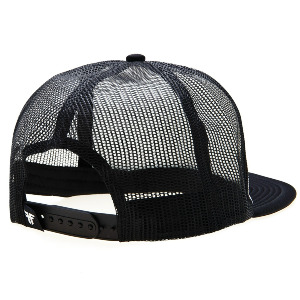 Plate Trucker Cap - Black/White