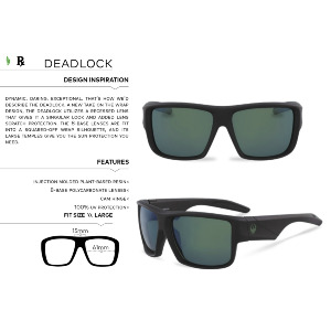 DEADLOCK - MATTE BLACK/LUMALENS SMOKE