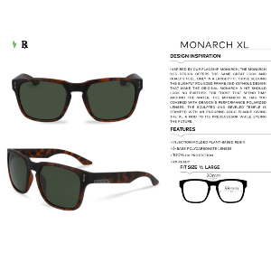 MONARCH XL - MATTE BLACK/SILVER IONIZED
