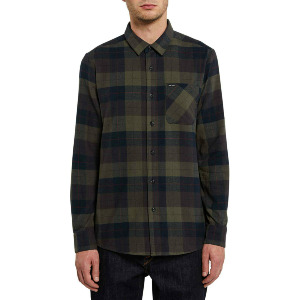 CADEN PLAID L/S - ARMY GREEN COMBO