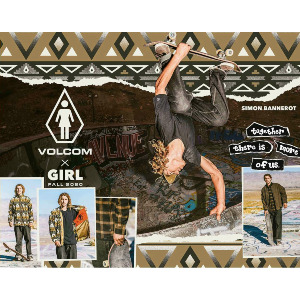 STONELY VOLCOM X GIRL SKATEBOARDS SS - WHITE