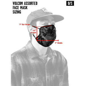 VOLCOM ASST FACEMASK - BLACK DESTRUCTO