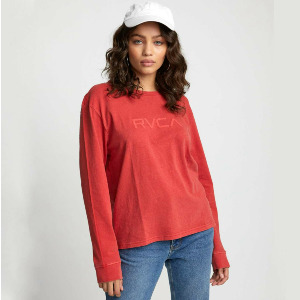BIG RVCA LS - POPPY RED
