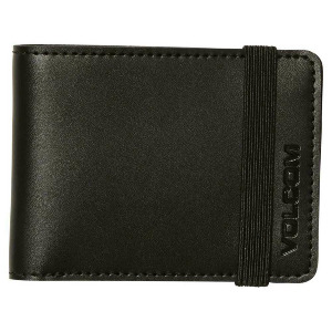 HALFSTONE LEATHER 2F WLT - BLACK