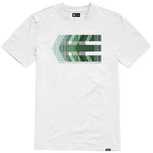 AFTER BURN TEE - WHITE/GREEN
